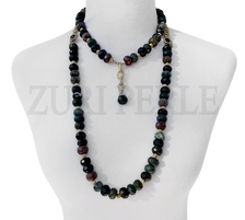SANMA  Fancy Jasper Semi Precious Beads Wedding Statement Necklace Sets