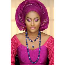 SANMA  Lapis Semi Precious Beads Wedding Statement Necklace Sets