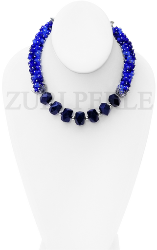 Women Handcrafted Lapis Bride Necklace Made in America