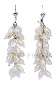 Women Handcrafted White Pearl Earrings Made in America
