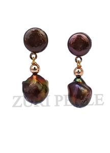 Women Handcrafted Baroque Pearl Earrings Made in America