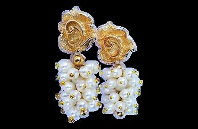 KITAN - Women Handcrafted White Pearl Earrings Made in America