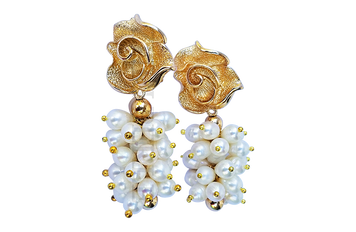 KITAN - Women Handcrafted White Pearl Earrings Made in America