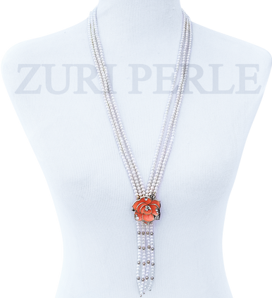 ENI - Women Handcrafted Pearl Bride Necklace Made in America