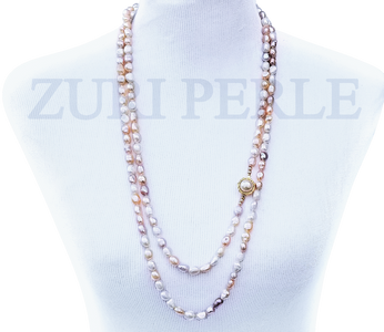 IBI - Women Handcrafted Multi Tone Pearl Necklace Made in America