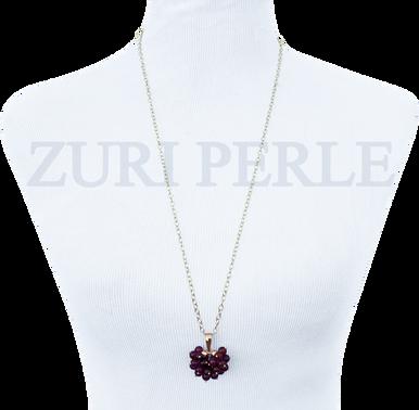 TEMI - Women Handcrafted carnelian Pendant Necklace Made in America