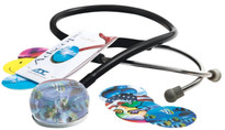 ADC Vistascope 655  Acrylic Clinician Fun Stethoscope Stethoscope Model ADC655BK Color Black