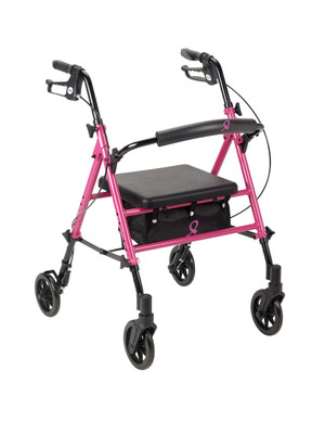 "Drive Medical ACS Aluminum Rollator, 6"" Casters"