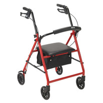 "Drive Medical Rollator with 6"" Wheels (R800RD)"