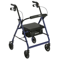 "Drive Medical Aluminum Rollator, 6"" Casters, R726BL"