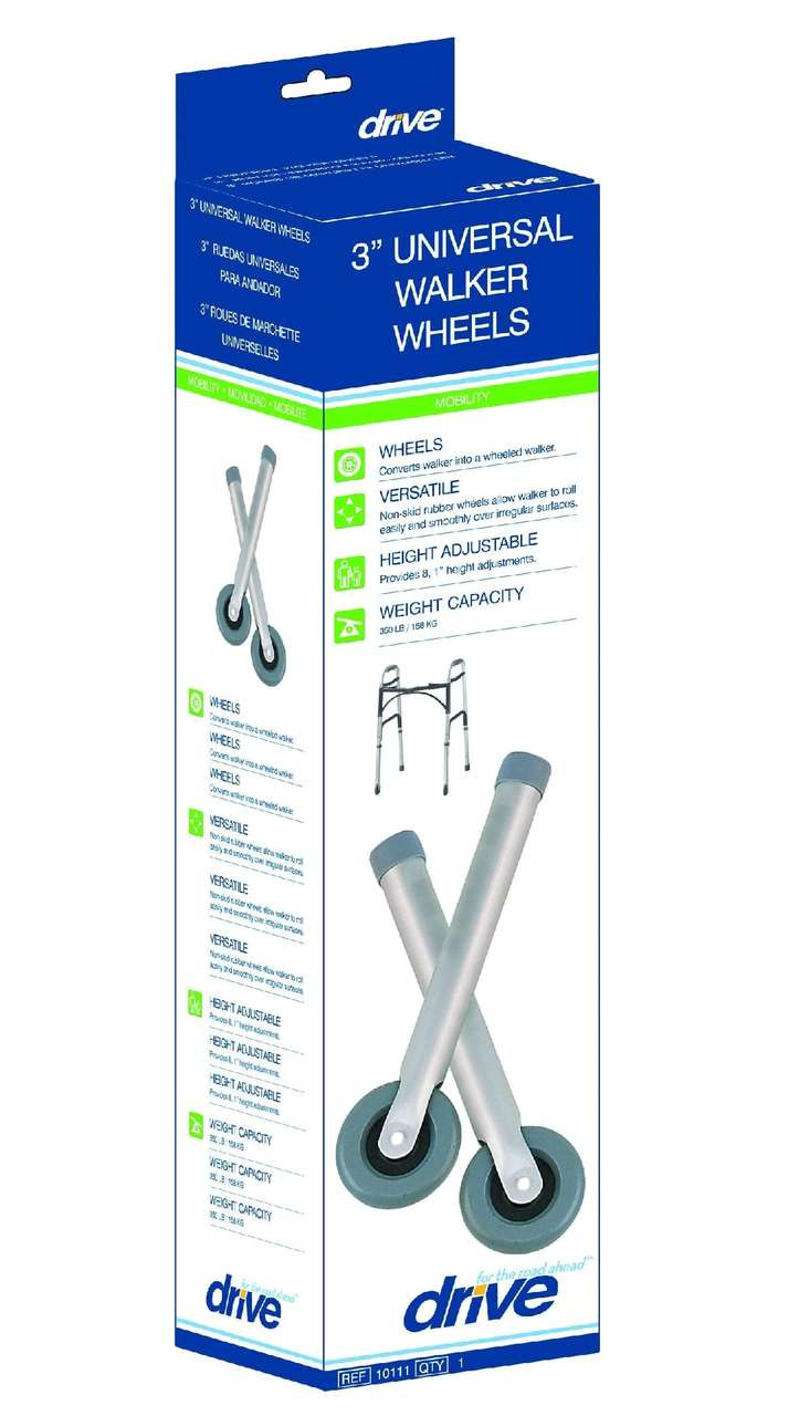 Drive Medical 3 Quot Universal Walker Wheels With Two Sets Of