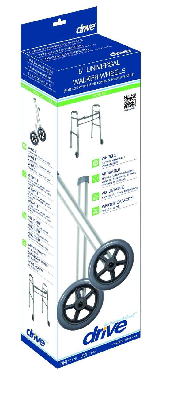 Drive Medical 5 Quot Walker Wheels With Two Sets Of Rear