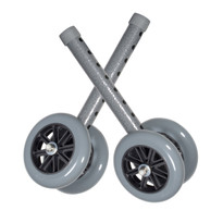 "5"" Bariatric Walker Wheels with Two Sets of Rear Glides"