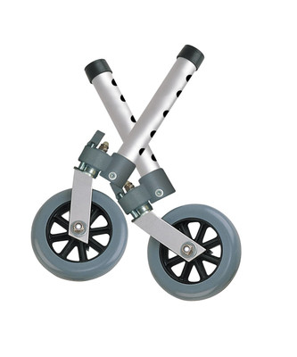 Drive Medical Swivel Lock Walker Wheels, 5""