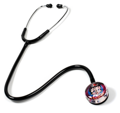Prestige medical Clear Sound Stethoscope Betty Boop Nurse Edition Model S107-LUV