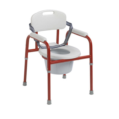 Drive Medical Pinniped Pediatric Commode Red