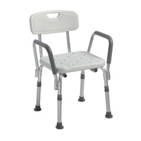 Shower Chair with Back and Removable Padded Arms