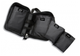 Multi-pocketed heavy duty black nylon zipper case.