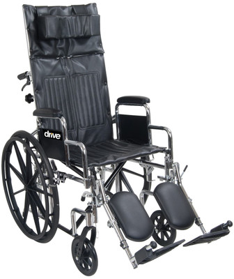 Drive Medical Chrome Sport Full-Reclining Wheelchair