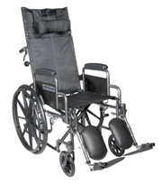 Drive Medical Silver Sport Full-Reclining Wheelchair