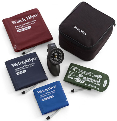 Welch Allyn Platinum DS58 Family Practice Hand Aneroid Sphygmomanometer Kit, Includes Large adult, Adult, Small Adult and child cuffs.