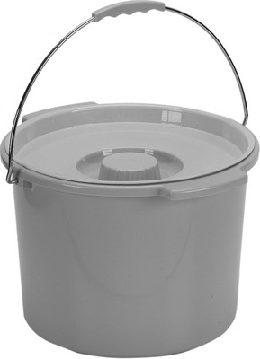 Drive Medical Commode Bucket with Metal Handle and Cover