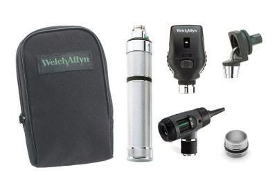 Welch Allyn Diagnotic Set, Nic-cad Handle With C Cell Battery Converter, Macro View With Throat and Nasel Illuminator, Coaxial, Soft Case - Model 97211-MC