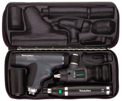 Welch Allyn Diagnostic Set, Lit-Ion Handle With Advance PanOptic, Macro View With Throat Illuminator, Coaxial, Hard Case- Model 97200-MPS