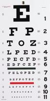 """Snellen Eye Chart 22""""L x 11""""W"""