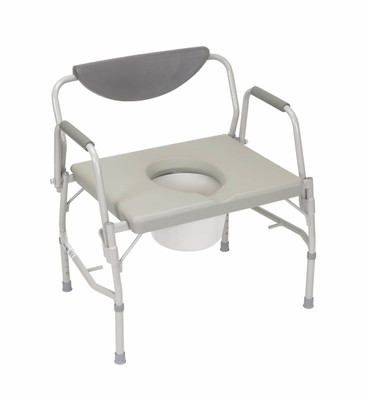 Drive Medical Deluxe Bariatric Drop-Arm Commode