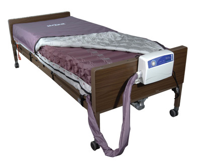 """Drive Medical Med-Aire 8"""" Alternating Pressure and Low Air Loss Mattress System"""