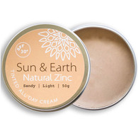 Sun & Earth Natural Zinc (Light) SPF 30+ 50g *NEW*