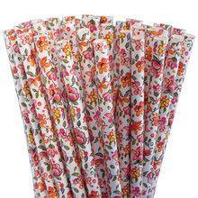 Paper Straws - Floral