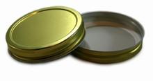 Plastisol Widemouth Mason Jar Lid - Gold