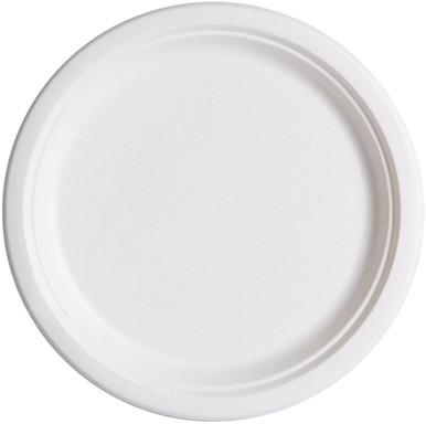 Large Round Sugarcane Plates