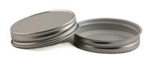 Plastisol Mason Jar Lid - Silver