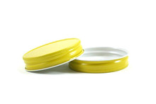 Plastisol Mason Jar Lid - Yellow