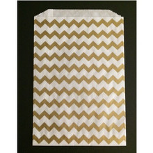 Metallic Gold Chevron Bitty Bags