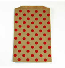 Brown with Red Polka Dot Bitty Bags