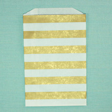Metallic Gold Horizontal Striped Bitty Bags
