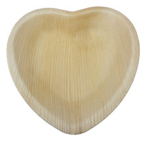 Palm Leaf Heart Plates - Set of 25