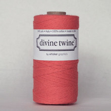 Solid Coral Bakers Twine