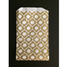 Metallic Gold Casablanca Ikat Paper Bags