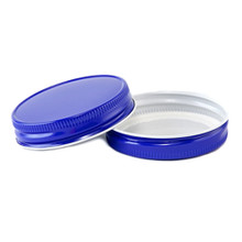 Blue Mason Jar LId