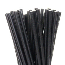 Solid Black Paper Straws