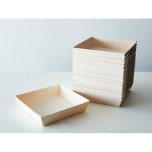 "Medium Square Wood Tray - 7"" x 7"" -50pcs"
