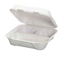 Compostable 3 Compartment Clamshell