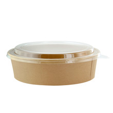 Clear Lid for Kraft Paper Salad Bowl - 26 oz