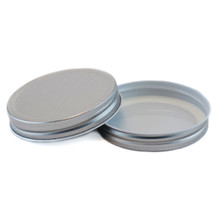 Plastisol Widemouth Mason Jar Lid - Silver High Hi-Heat