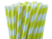 """5.5"""" Cocktail Yellow Paper Straws"""